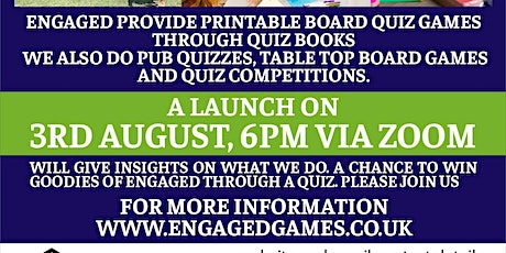 An exciting new venture: Printable board quiz games tickets