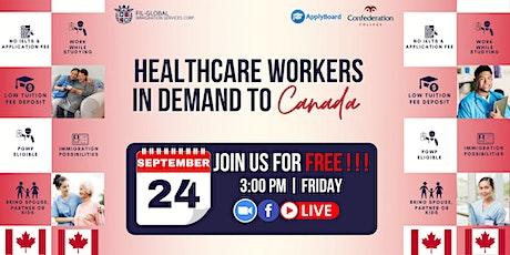 FREE WEBINAR HEALTHCARE PROGRAMS  IN  CANADA WITH CONFEDERATION COLLEGE tickets