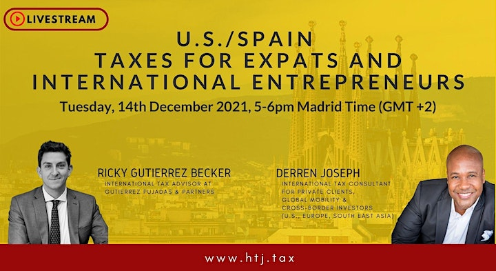 (LIVESTREAM) U.S./SPAIN TAXES FOR EXPATS  AND INTERNATIONAL ENTREPRENEURS image