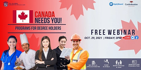 FREE WEBINAR EVENT DEGREE HOLDER IN CANADA WITH CONFEDERATION COLLEGE tickets