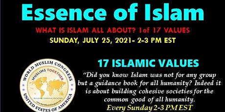 Essence of Islam – Value 1 of 17 tickets