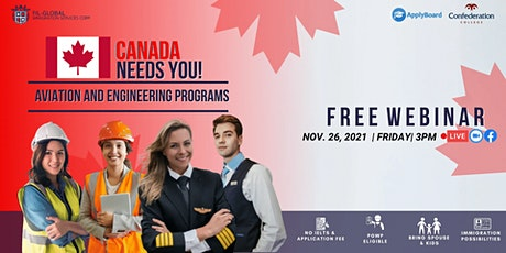 FREE WEBINAR AVIATION AND ENGINEERING IN CANADA WITH CONFEDERATION COLLEGE tickets