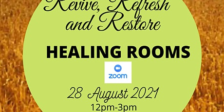 Revive, Refresh and Restore, Healing Rooms tickets