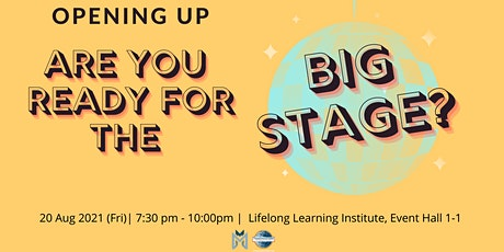 Public Speaking Extravaganza: Opening Up - Are You Ready for the Big Stage tickets