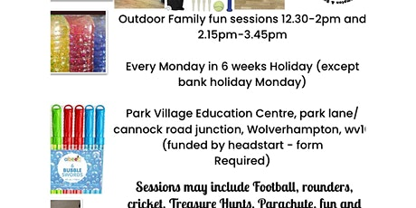 Wolverhampton outdoor play session (free please bring a donation tombola) tickets