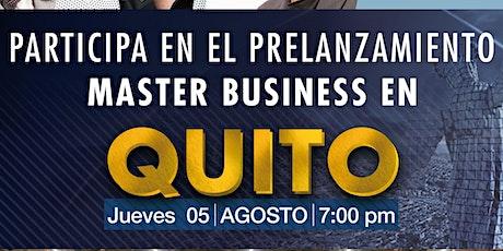Prelanzamiento Master Business en Quito entradas