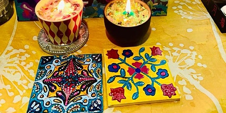 3 hours Ceramic Tile Painting workshop tickets
