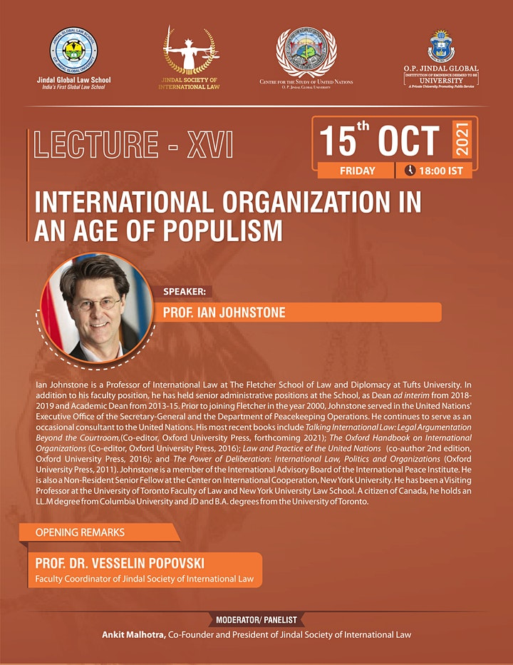 International Organization in an Age of Populism image