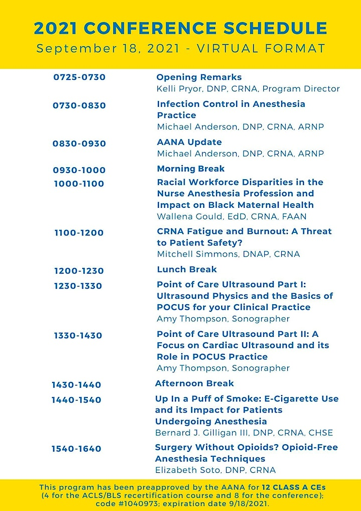 24th Annual Fall Anesthesia Conference image