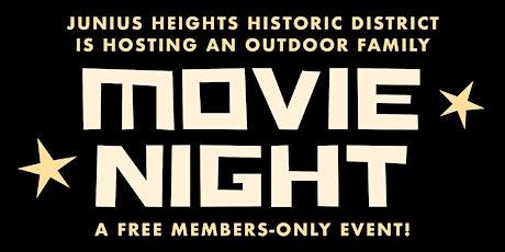 Junius Heights Historic District Movie Night tickets