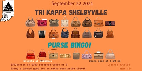 Tri Kappa Shelbyville Purse Bingo tickets