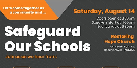 Safeguard our Schools tickets