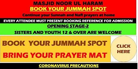 JUMMAH  - Friday 30TH JULY 2021 tickets