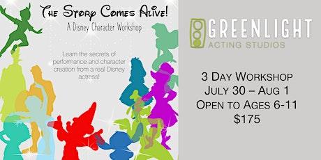 Disney Character Workshop tickets