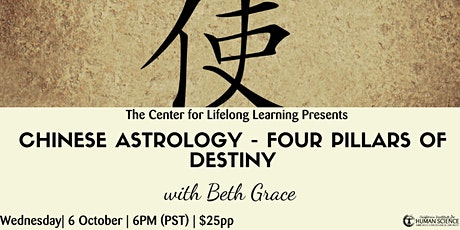 Chinese Astrology - The Four Pillars of Destiny tickets