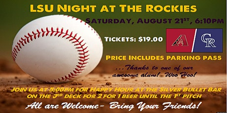 LSU Denver Night at The Rockies Baseball Game tickets