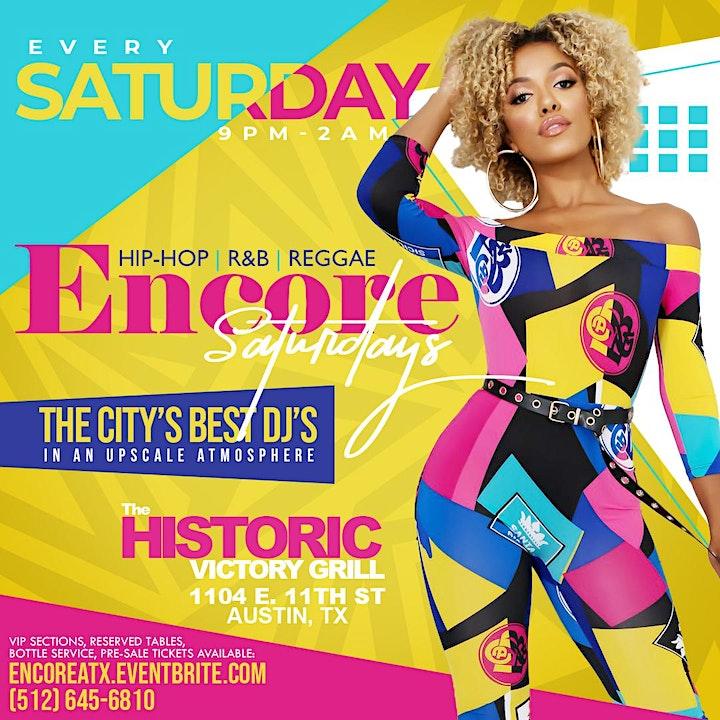 Encore Saturdays| Hip-Hop, R&B, Reggae image