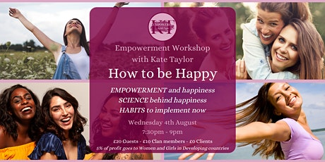 HOW TO BE HAPPY - A Women's Empowerment's Workshop tickets