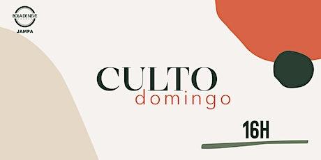 CULTO PRESENCIAL   DOMINGO 16H - 25.07.21 ingressos