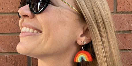 Rainbow Felted Earrings tickets