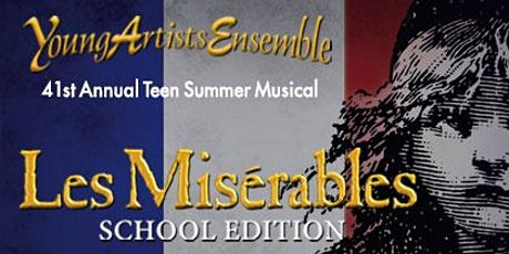 Donations to support YAE's Les Misérables, School Edition tickets