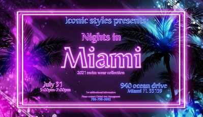 ICONIC STYLES MIAMISWIMSWIM  COLLECTIVE  2021 tickets