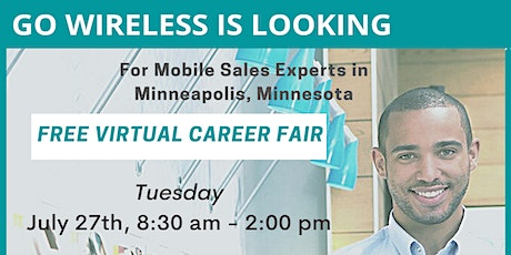 Free Virtual Career Fair in Minneapolis MN, Hiring for Mobile Sales Experts tickets