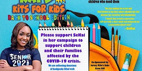 Kia's Kits for Kids (Backpack & school supplies) tickets