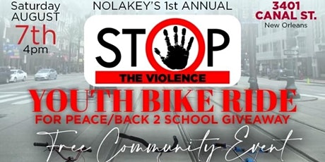 NOLAKEYS Youth Bike Ride for Peace and School Supply Giveaway tickets