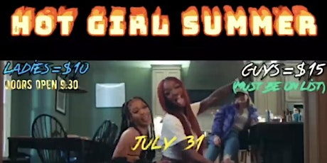 HOTGIRL SUMMER HOUSE PARTY tickets