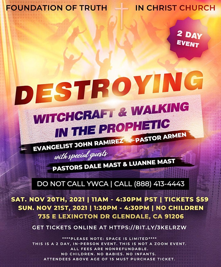 Destroying Witchcraft & Walking In The Prophetic image