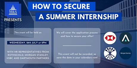 How to Secure a Summer Internship tickets