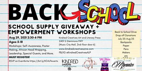 GET LIT Back To School Drive. Giveaway and Employment Workshops tickets