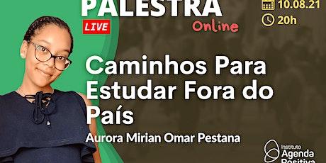 Palestra Online: Caminhos Para Estudar Fora do País bilhetes