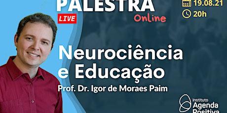 Palestra Online: Neurociência e Educação ingressos