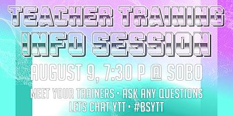 YTT Info Session at Black Swan Yoga! tickets