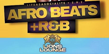 AfroBeats + R&B Tuesdays at Lions tickets