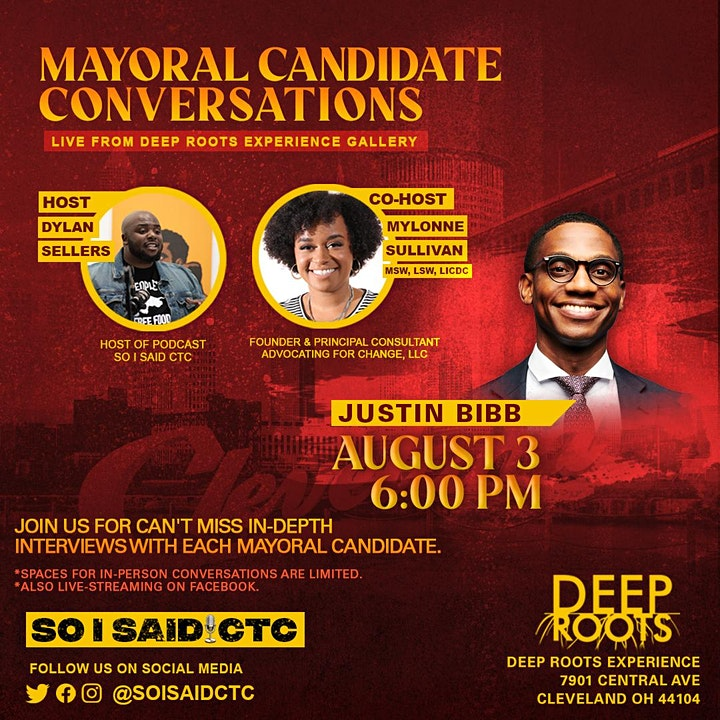 Conversation with the Candidates: Justin Bibb image