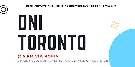 DNI Toronto 9/2 Talent Ticket tickets