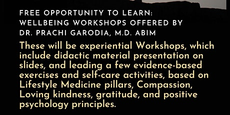 ACLM Health care Professional Wellbeing workshop tickets
