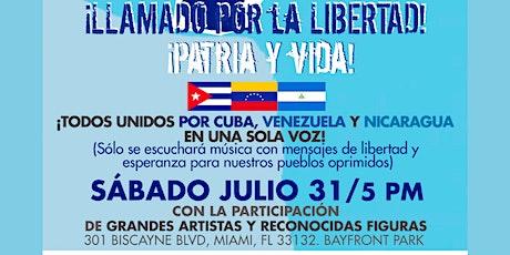 ¡ABAJO CADENAS!  - Llamado por la LIBERTAD DE CUBA, VENEZUELA Y NICARAGUA tickets