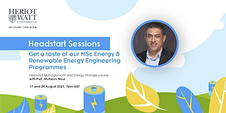 Demand Management and Energy Storage Headstart Sessions tickets