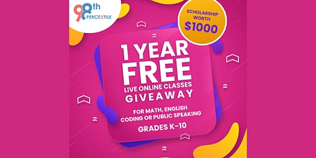Giveaway Contest- Free Education  For 1 year tickets