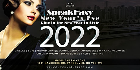 Vancouver New Year's Eve Speakeasy Yacht Party 2022 tickets