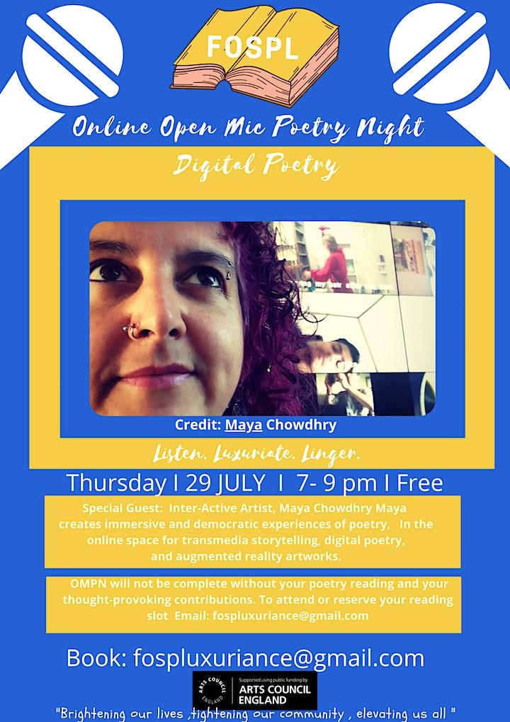 Open Mic  Poetry Night image