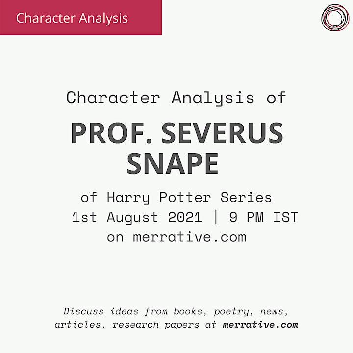 Character Analysis of Prof. Severus Snape image