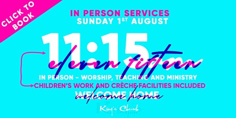 King's Church Indoor Gathering- 11:15 Including Powerhouse and Creche tickets