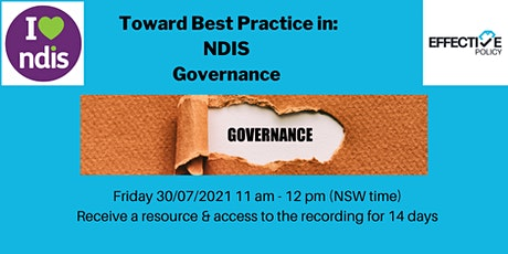 Toward Best Practice: Governance and how it applies as an NDIS Provider tickets