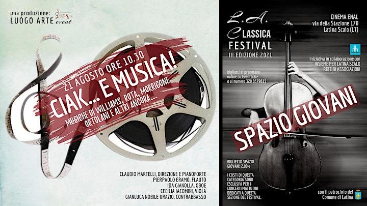Immagine CIAK... E MUSICA! per SPAZIO GIOVANI