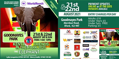 Kenya and Friends in the Park 2021 tickets
